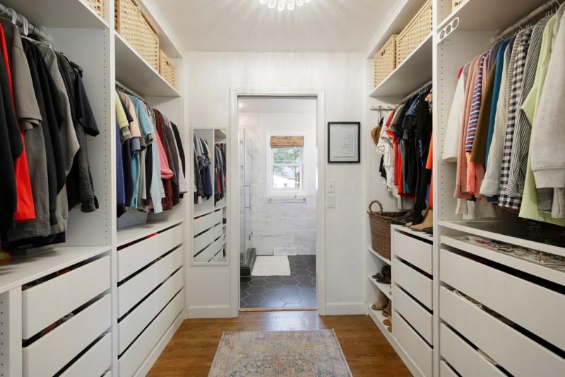 Walk-in closet, walk-through closet, master closet, closet design, IKEA Pax closet design ideas / Sima Spaces