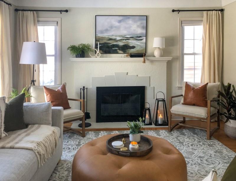 Sima Spaces: Bayard Bungalow Living Room