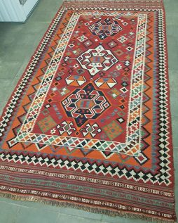 Oosters Perzisch Kashkai Kelim Tapijt 300 x 163 cm