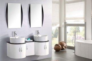 Mueble cuarto de baño 138 cm lavabos incluidos - Tiger