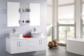 Mueble cuarto de baño 150 cm Lavabos incluidos - White Lion