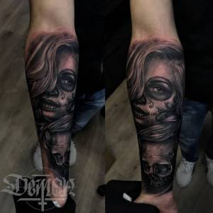 76e673f55 Day Of The Dead Tattoo By Dtattwo On Deviantart