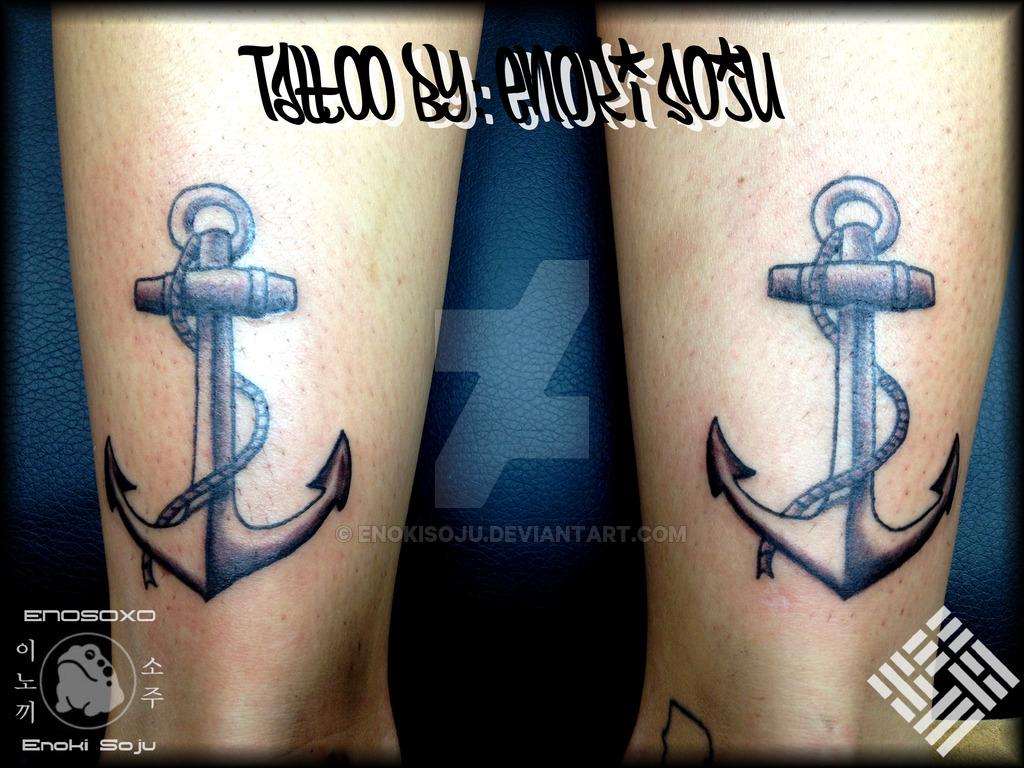 Double Ankle Anchor Tattoos By Enoki Soju By Enokisoju On Deviantart