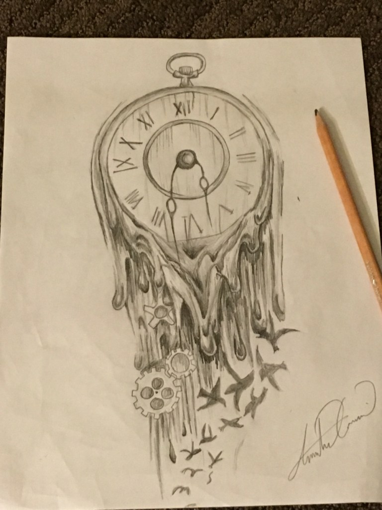 00cb686a4 Melting Clock Drawing At Getdrawings Free For Personal Use - Best Tattoo