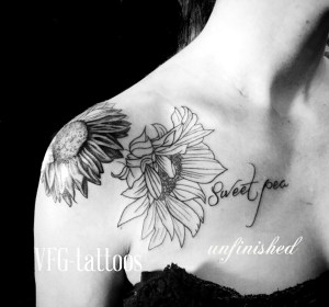 daisy tattoo black and white - Best Tattoo