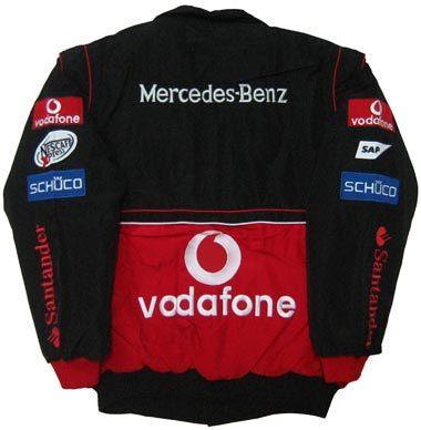 BLACK-RED MCLAREN MERCEDES F1 TEAM JACKET ID148