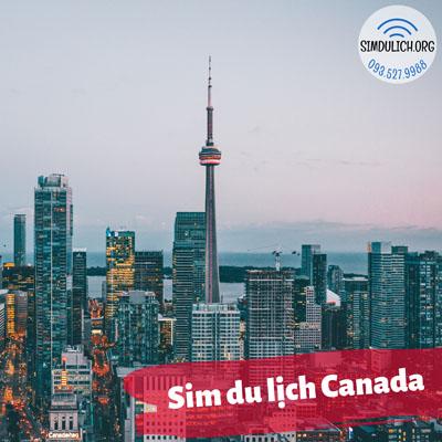 sim du lịch Canada