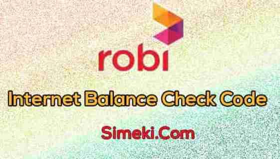 robi internet balance check