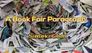 a book fair paragraph