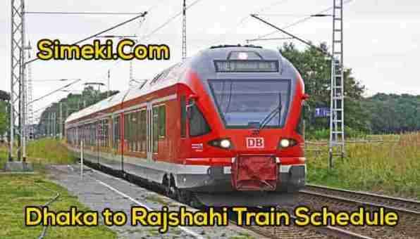 dhaka to rajshahi train schedule