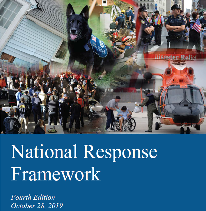 National Response Framework Cover Picture 4th Edition, 2019