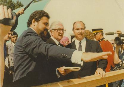 Mr. Freschi with His Highness the Aga Khan and the Honourable Henry Bell-Irving, Lieutenant-Governor General of British Columbia