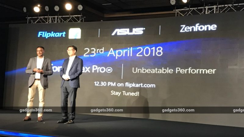 Asus ZenFone Max Pro India Launch Soon, Will be Available via Flipkart From April 23