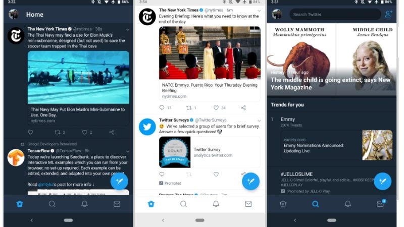 Twitter Shifts Navigation Bar to the Bottom for Android Users