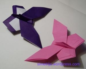 origami drugeliai