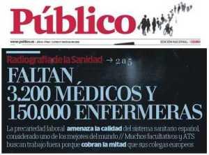 faltan 3200 medicos