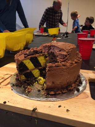 Inside of Construction Cake