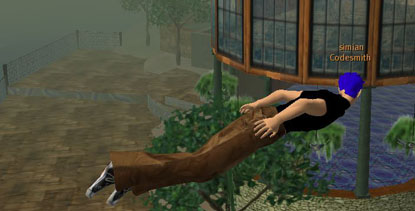 Second life portrait, flying