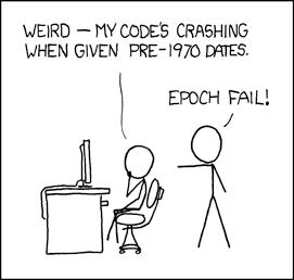 xkcd comic, joke about epoch
