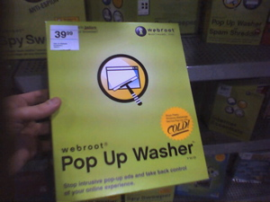 webroot popup washer, $39.99