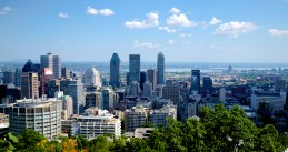 Downtown Montreal from the montain