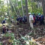 北部高校 林業体験