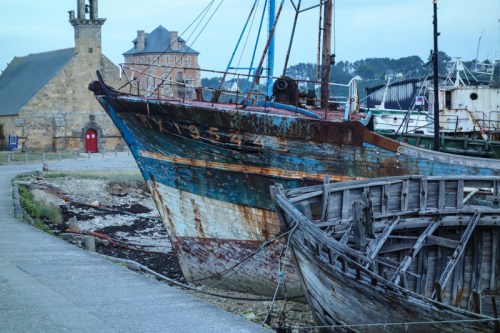 le cimetière de bateaux de Camaret