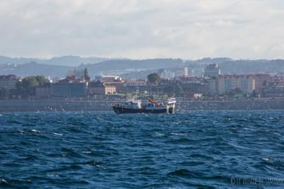 Entrée dans le port de La Corogne