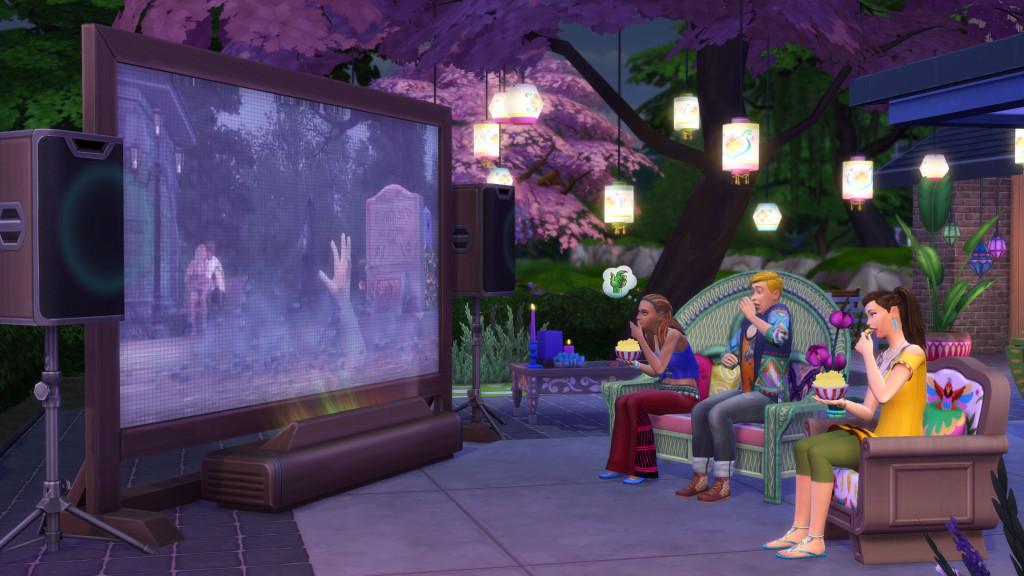 ¡Hora de ver una peli! La semana que viene llega Los Sims 4 Noche de Cine Pack de Accesorios