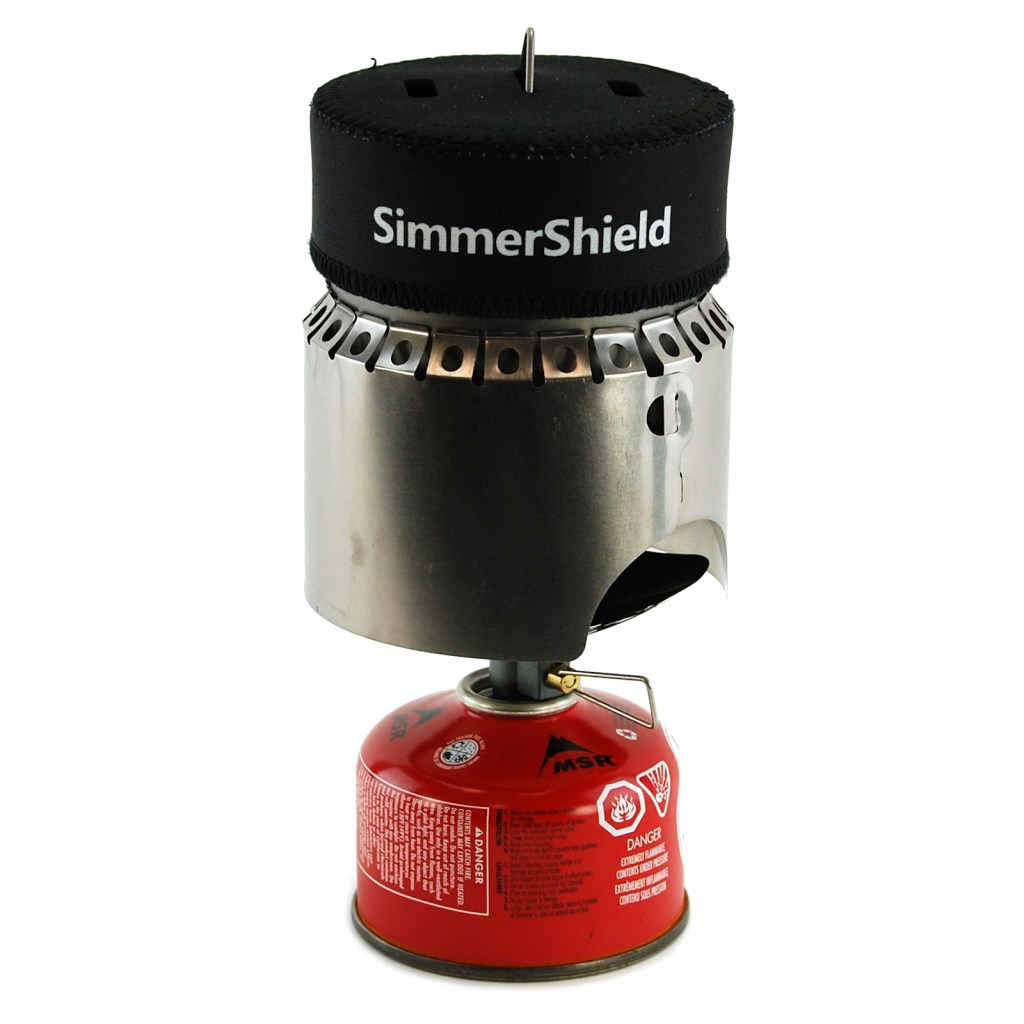 SimmerShield ready for operation on a white background