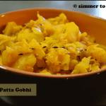 Patta Gobhi with Aloo