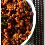 Kadle Suran (Black Chickpeas with Yam)
