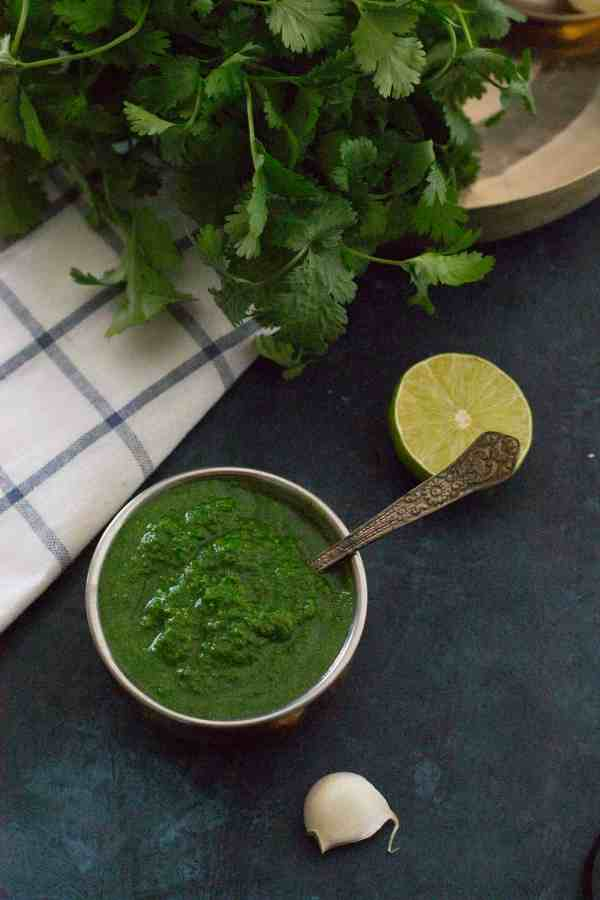 Learn how to make this simple and flavorful coriander or cilantro chutney and master the secret that makes most Indian street food so finger-licking good.