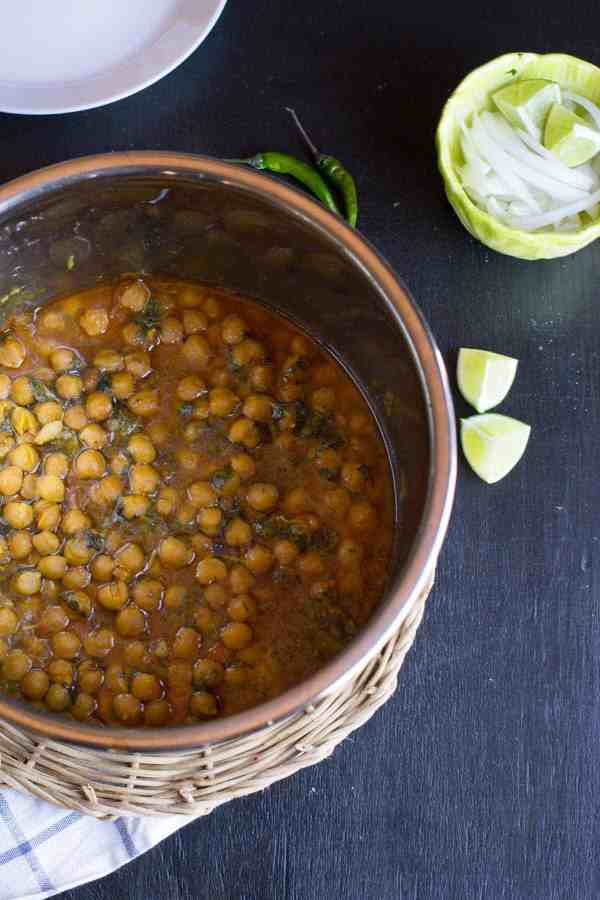 You will love this delicious one-pot, pressure cooked Chana Masala (Indian Chickpea curry) recipe that you can make effortlessly in your Instant Pot.