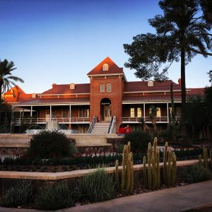 Old Main at the University of Arizona on Homecoming.