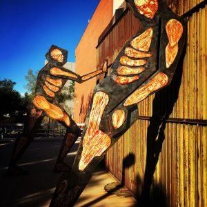 """Border Dynamics,"" by Alberto Morackis, on the University of Arizona campus."