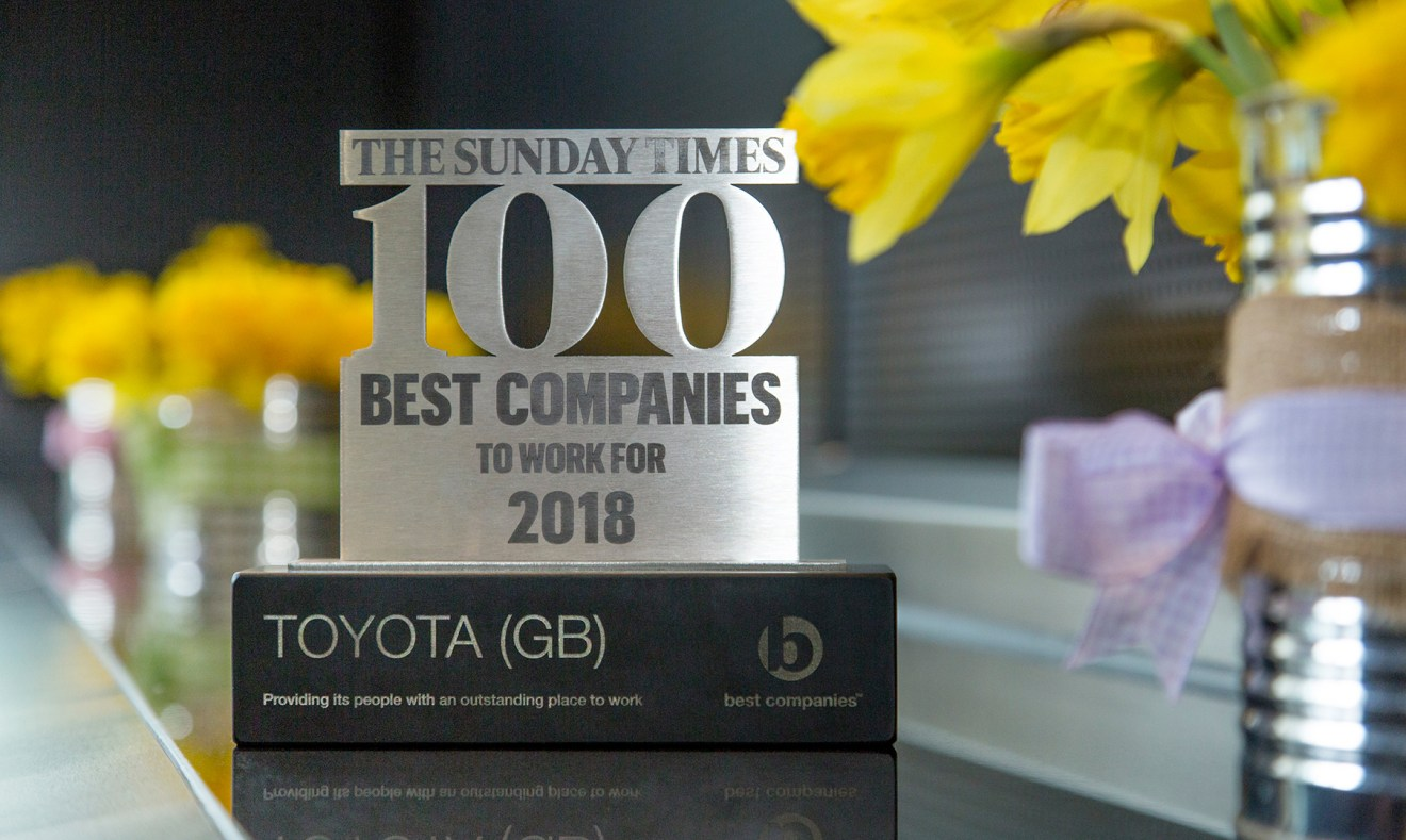 Toyota enters The Sunday Times Best Companies To Work For list