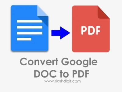 Google Doc to PDF