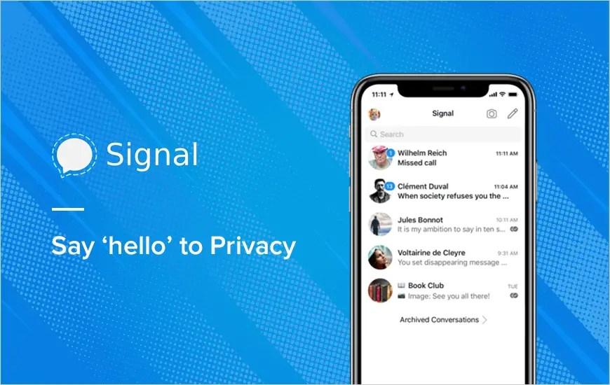 Signal Messenger App