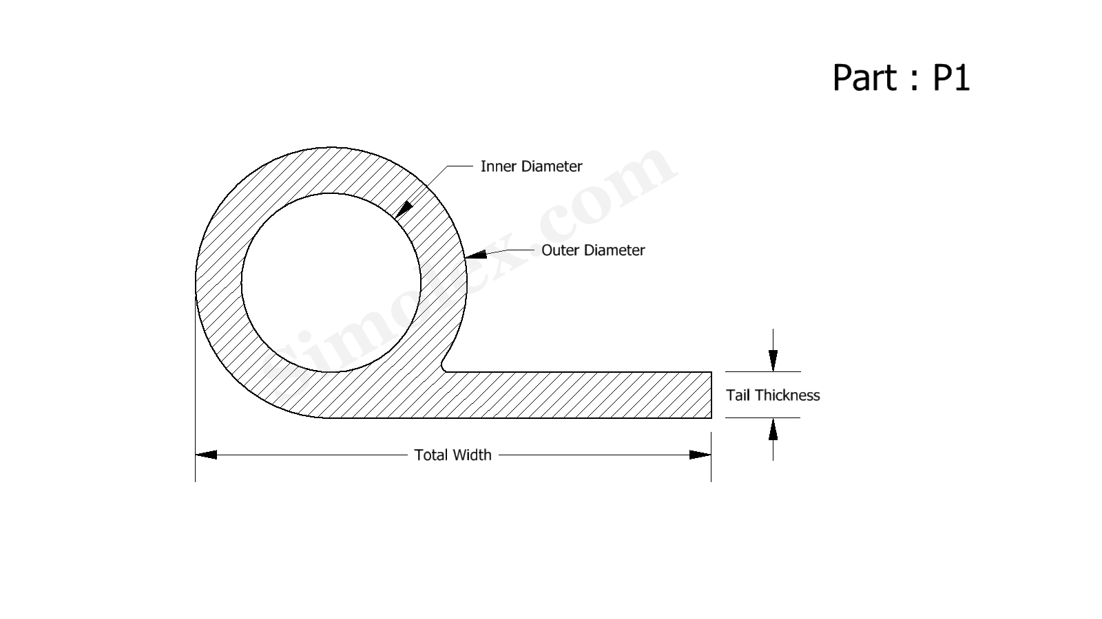 P Shaped Seals Gaskets Weatherstrips Extruded Silicon