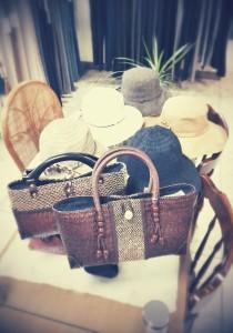 帽子、かごバッグいろいろ