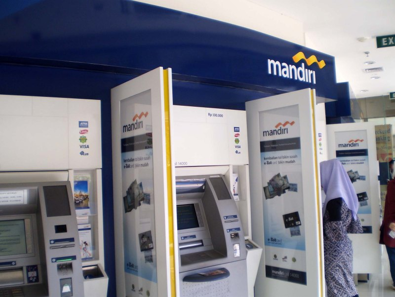 Image result for mesin atm mandiri