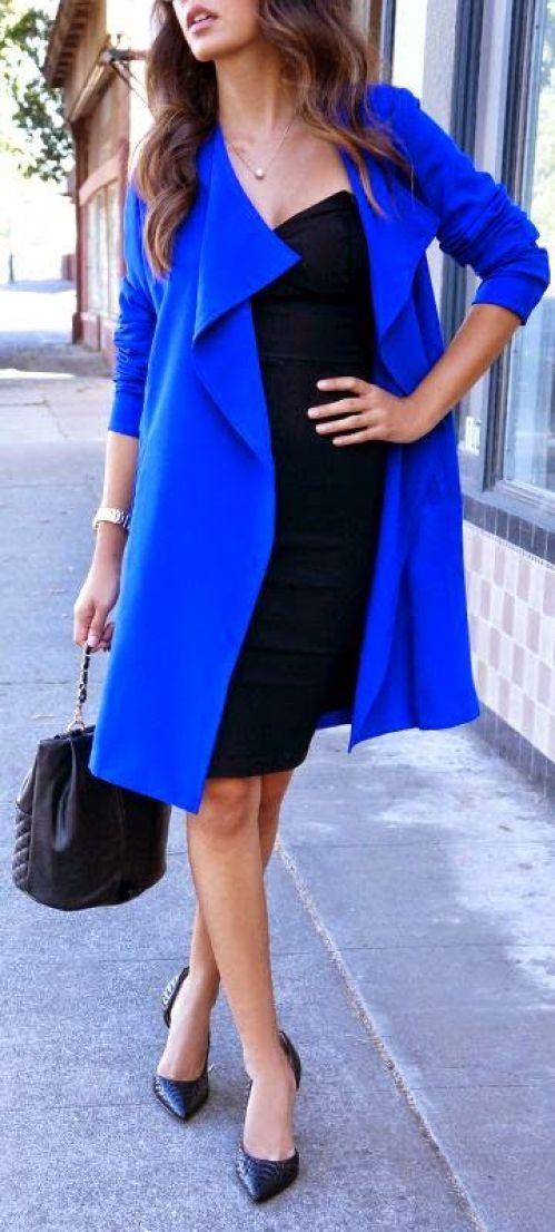 palton albastru