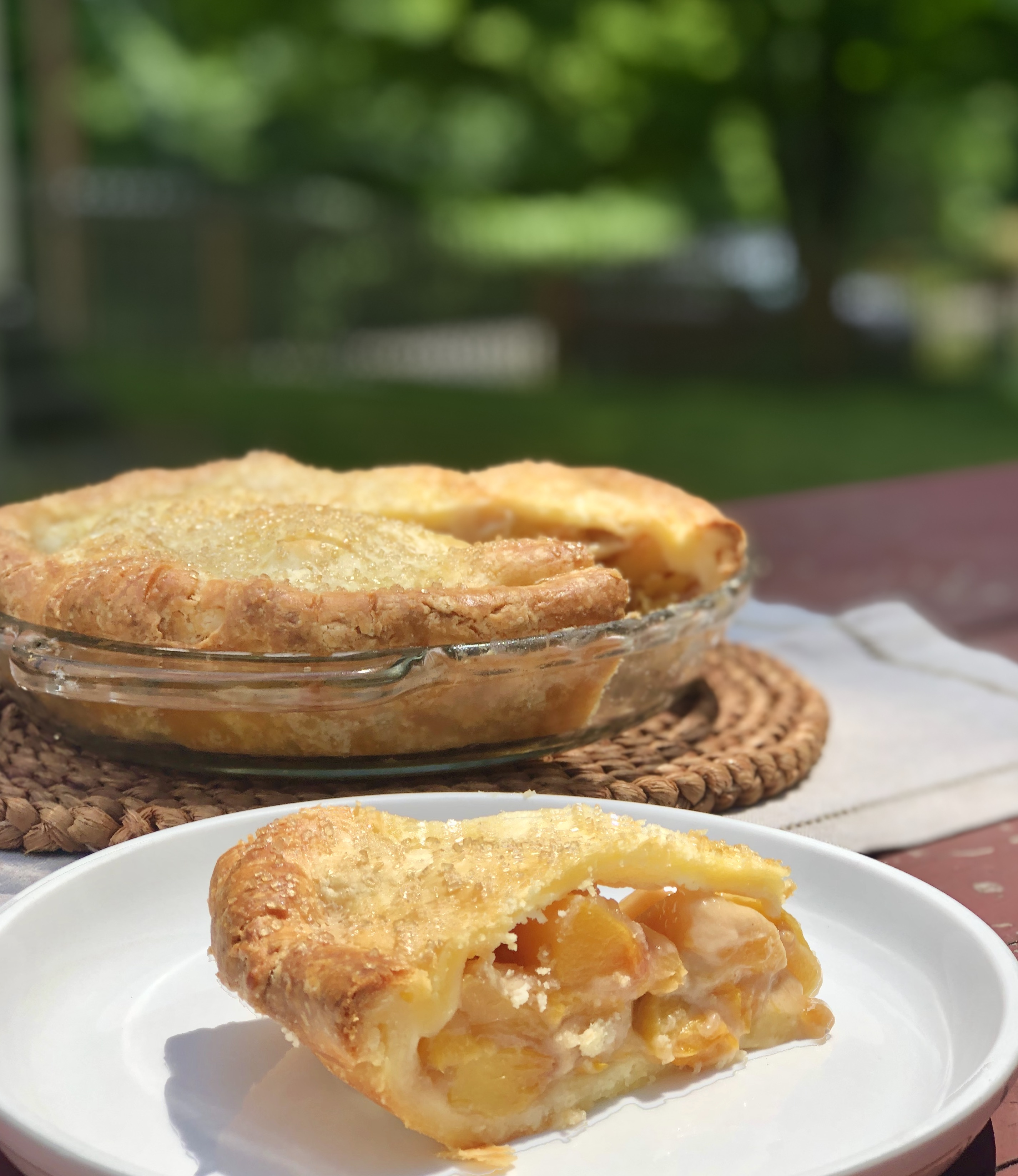 Gluten-free Ginger Peach Pie