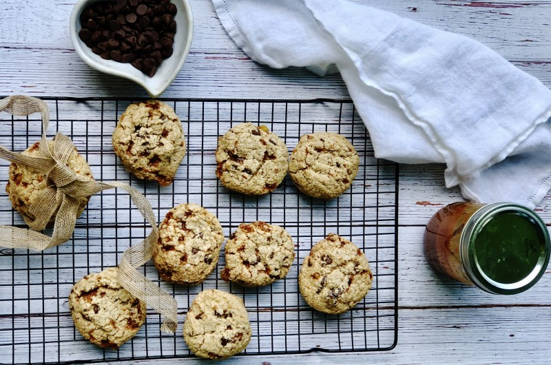 Gluten-free Brown Butter Salted Caramel Chocolate Chip Cookies