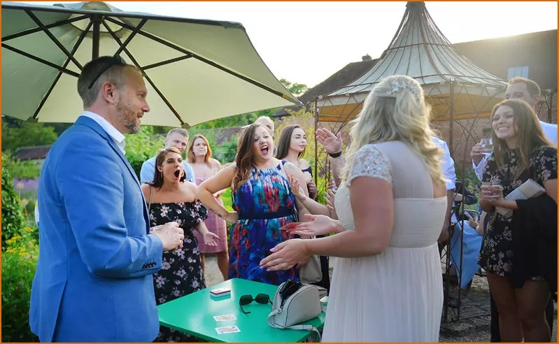 Crowthorne Magician performs Close-Up Magic.