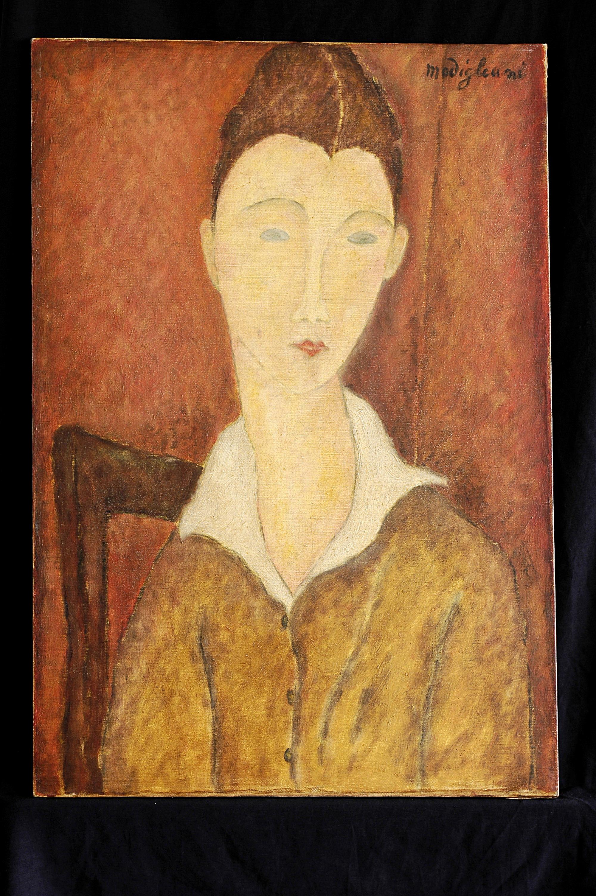 Modigliani Jeune femme a la guimpe blanche