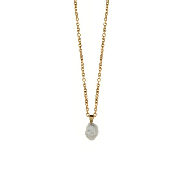 SOUTH SEA KESHI PEARL NECKLACE – 18K GOLD