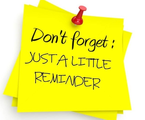 Players – Just a little reminder!