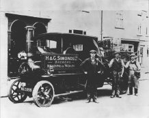 1910c Steam Dray with draymen Driver Les Elwes